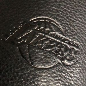 "Los Angeles LAKERS UNISEX crossbody leather multy purpose bag fits 15"" laptop"